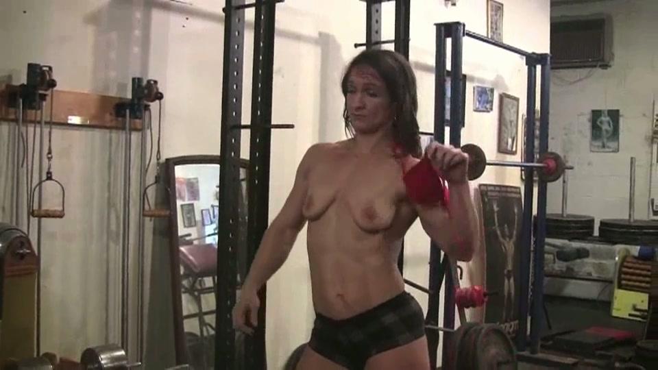 Lesbische man wijf in de sportschool